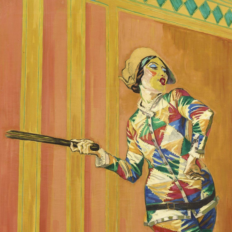 J.F. Willumsen. Michelle Bourret danser Harlekin 1200 x 1200