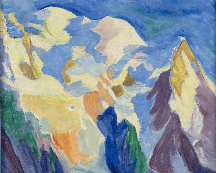 Mont Blanc i aftensol