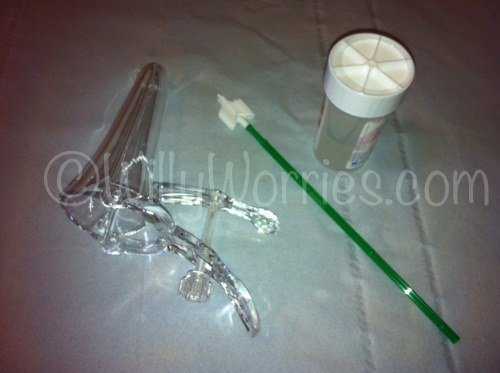 LBC cytology - cervical smear test - speculum - cytology brush
