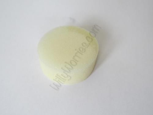 Picture of a Protectaid® F-5 Gel Contraceptive Sponge, used by women to prevent pregnancy - impregnated with spermicide to kill sperm and protect against pregnancy