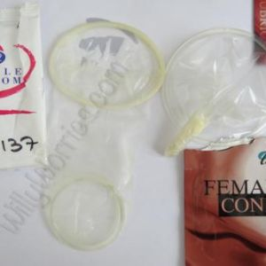 Both Female Condoms - opened out