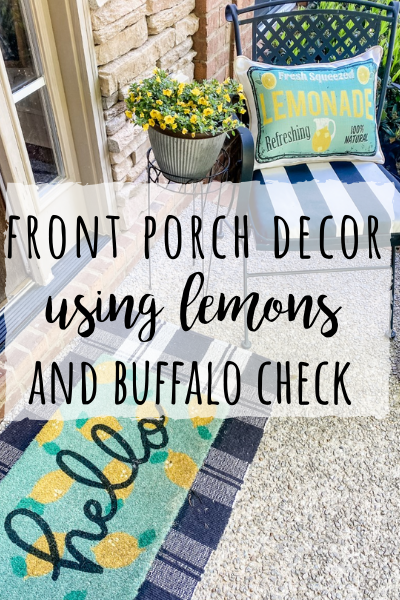 front porch decor ideas with lemons and