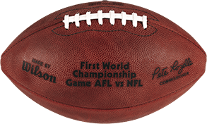 The football used in Super Bowl I