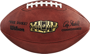 The football used in Super Bowl 44
