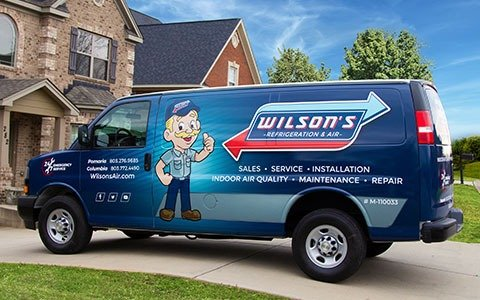Wilson's van at house