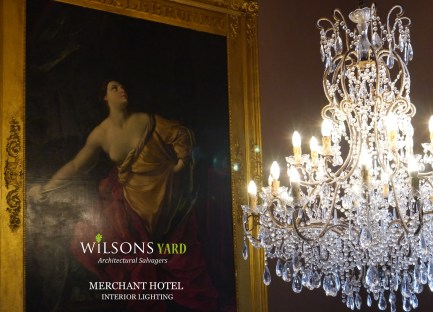 Vast range of Antique Chandeliers from Wilsons Yard Ireland