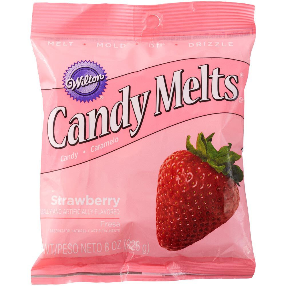 Strawberry Candy Melts Candy 8 Oz Wilton
