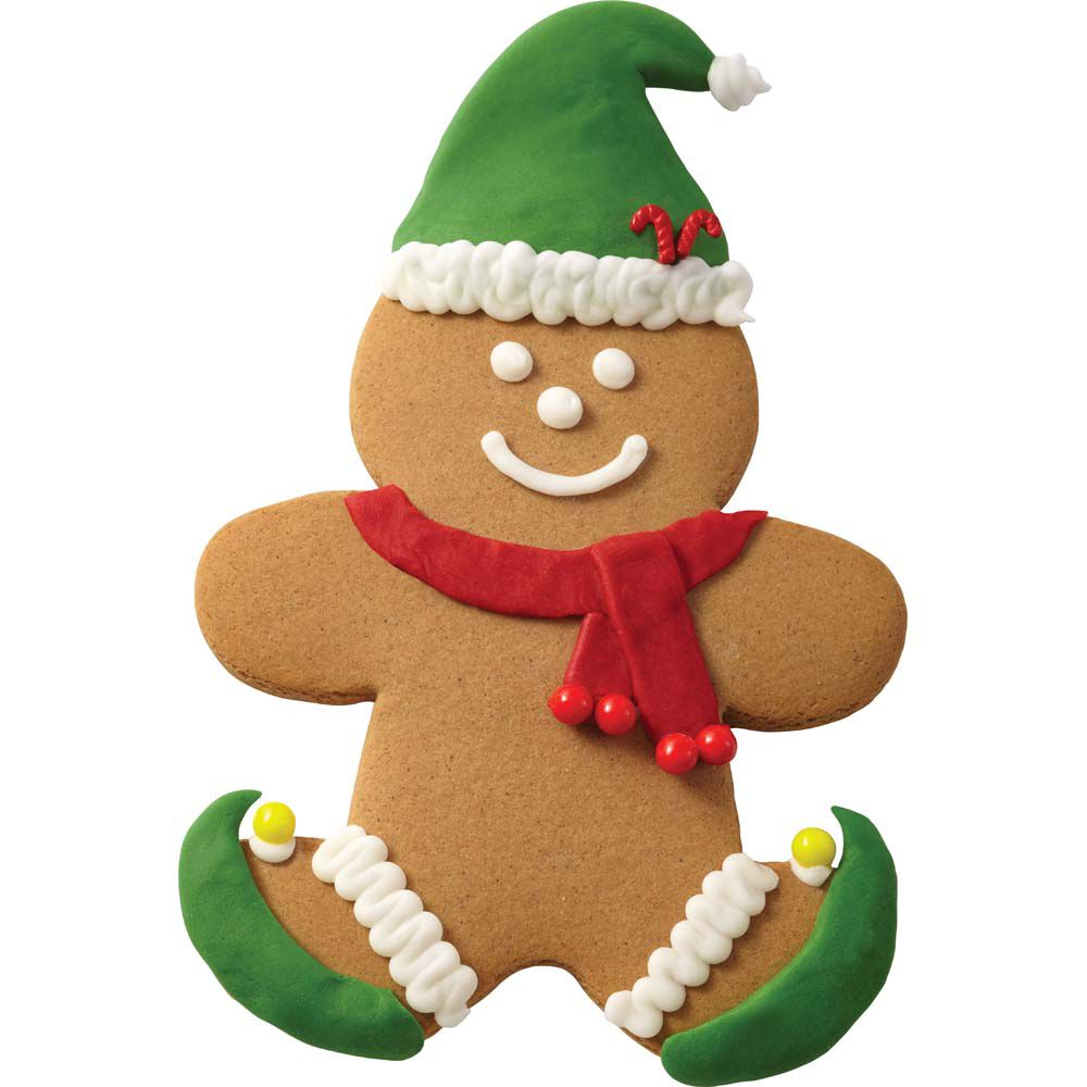 Gingerbread Boy With Hat And Scarf Wilton