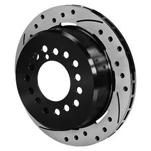 SRP Drilled Rotor & Hat - Iron - Black Electro Coat
