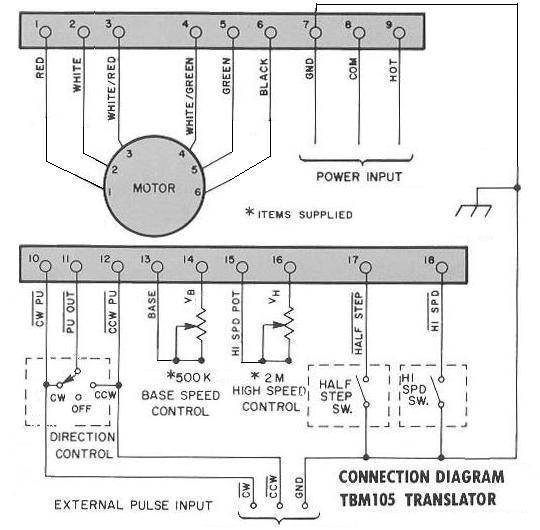 tbm105connection2?resize\=540%2C530 slo syn stepper motor wiring diagram slo syn ac synchronous motor  at eliteediting.co