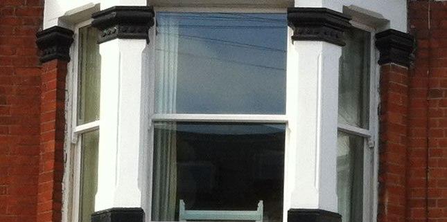 Sash Window Close Up in Clapham, London SW12