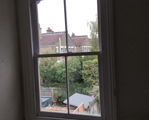 Slightly Buckled Sash Window 2