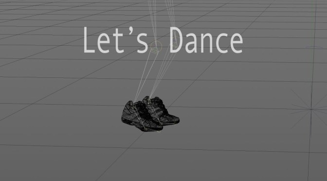Animation 'Let's Dance' – 3D wireframe render