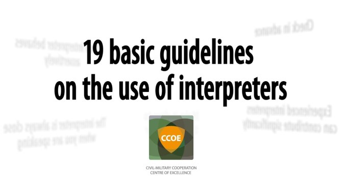 19 basic guidelines on the use of intertpreters