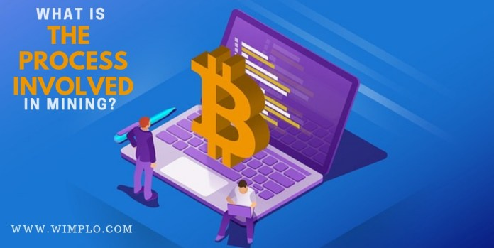 What is the process involved in mining?