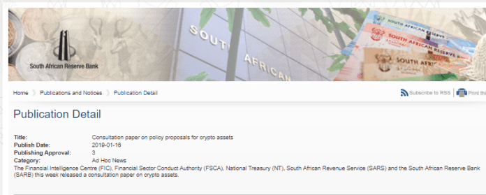 publication detail south africa reserve bank