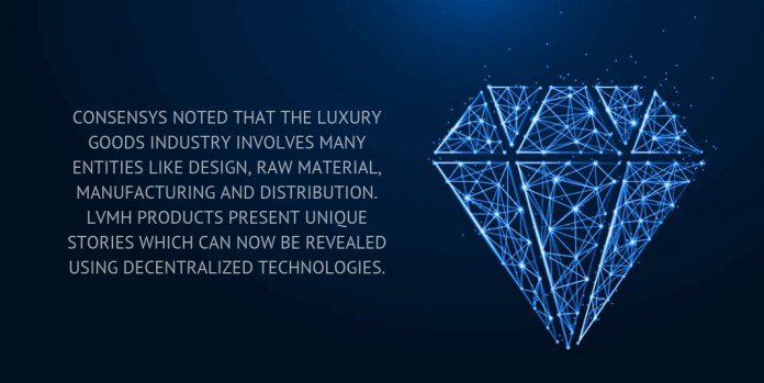 ConsenSys noted that the luxury goods industry involves many entities like design, raw material, manufacturing and distribution.