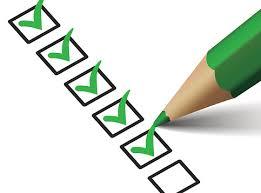 Checklist voor afleverpakketten