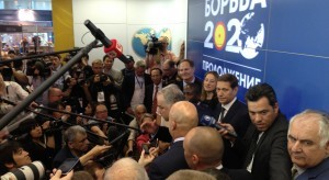 America's Jim Scherr (standing above FILA president Nenad Lalovic speaking to media members in Russia) was among five who appeared before the IOC's executive board on May 29.