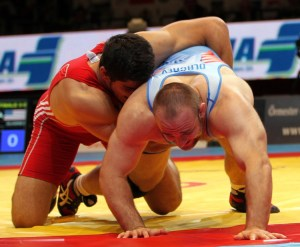 After outscoring his first three foes by a combined 23-0, Tervel Dlagnev lost his final two matches by a combined 9-2, including a 3-0 loss to Turkey's Taha Akgul.