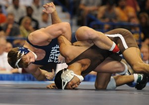 Penn State's David Taylor has appeared in three straight NCAA finals and beat Lehigh's Brandon Hatchett in 2012