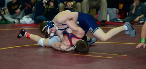 Spencer Lee of Franklin Regional defeated Anthony Bosco of Marmion Academy to win the 113-pound Walsh Ironman championship and later earn O.W. honors.