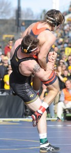 Sam Brooks avenged a loss at Oklahoma State last year with a technical fall over Jordan Rogers at 184. (Ginger Robinson photo)