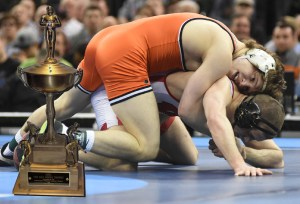 Alex Dieringer became the second Oklahoma State wrestler to win the Hodge Trophy after the Cowboy senior captured a third NCAA title.