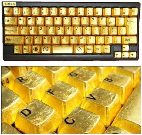Un clavier en or