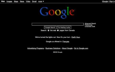 La page de Google version écolo
