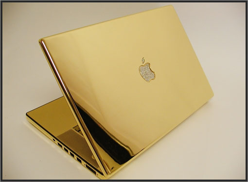 Un Macbook plaqué or