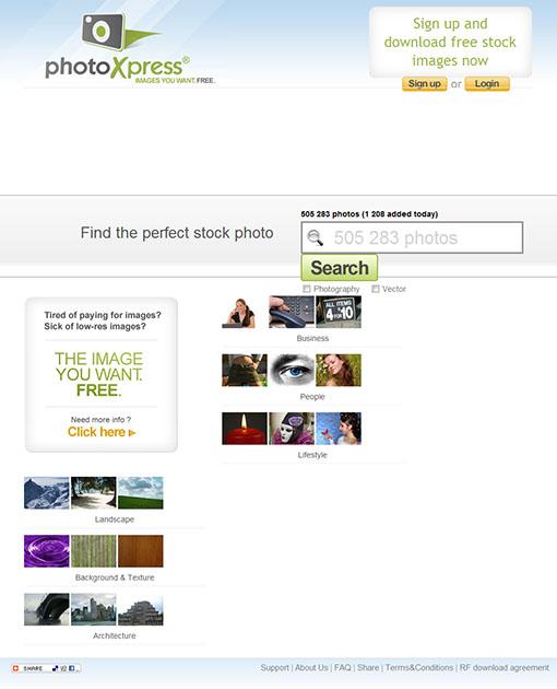 Le site PhotoXpress
