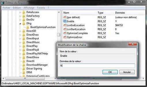 Réglage de BootOptimizeFunction pour accélérer Windows XP