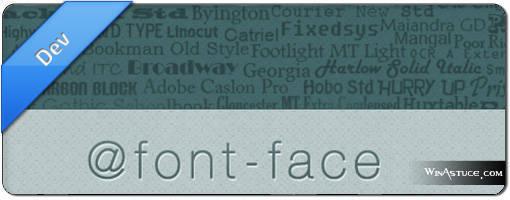 Integrer une police avec @font-face