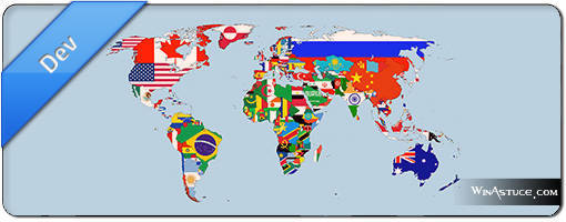 Liste multiformat de tous les pays du monde dans toutes les langues
