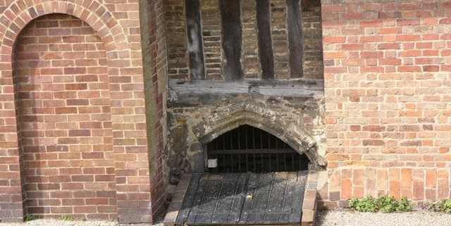 Entrance to Cellar beneath the Salutation Cottages (now modified)