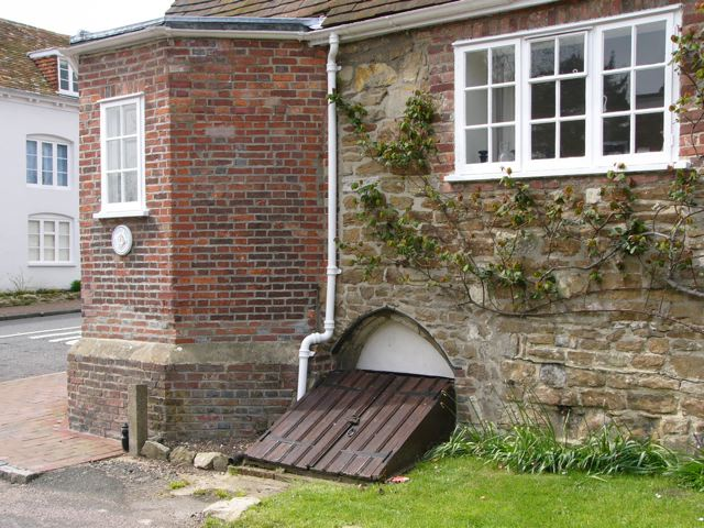 Cellar entrance beneath Stone Cottage, Barrack Square