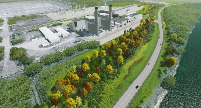 Model of new natural gas power generating station at Napanee. Wind and solar mean MORE greenhouse gas emissions. (Photo: Kingston Whig-Standard)