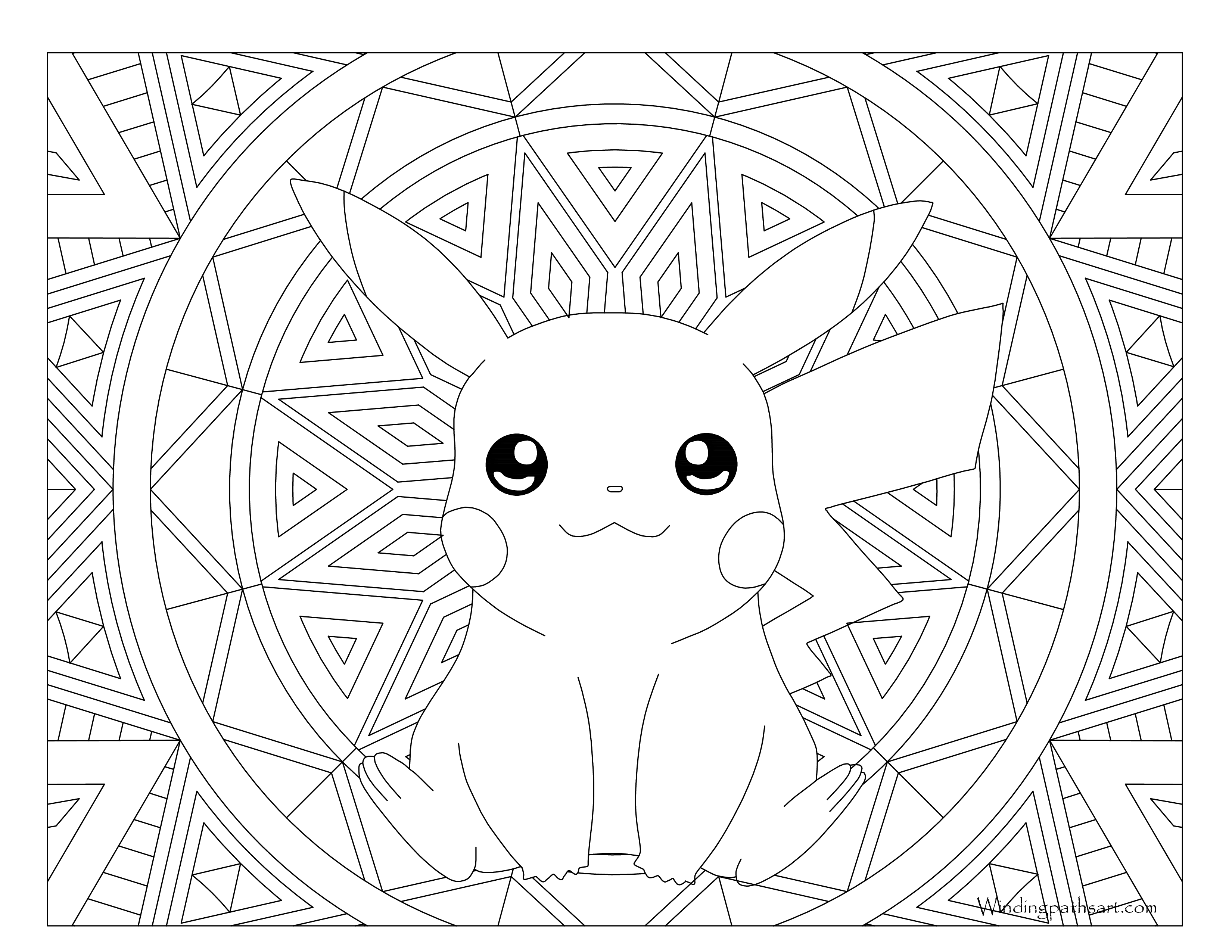 025 Pikachu Pokemon Coloring Page