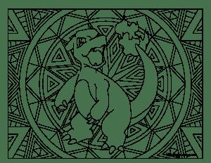 005 charmeleon pokemon coloring page