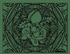 002 Ivysaur Pokemon Coloring Page