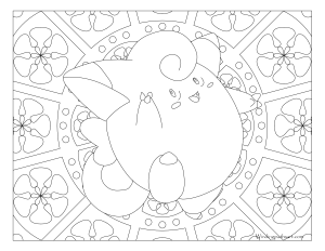 035 Clefairy Pokemon Coloring Page