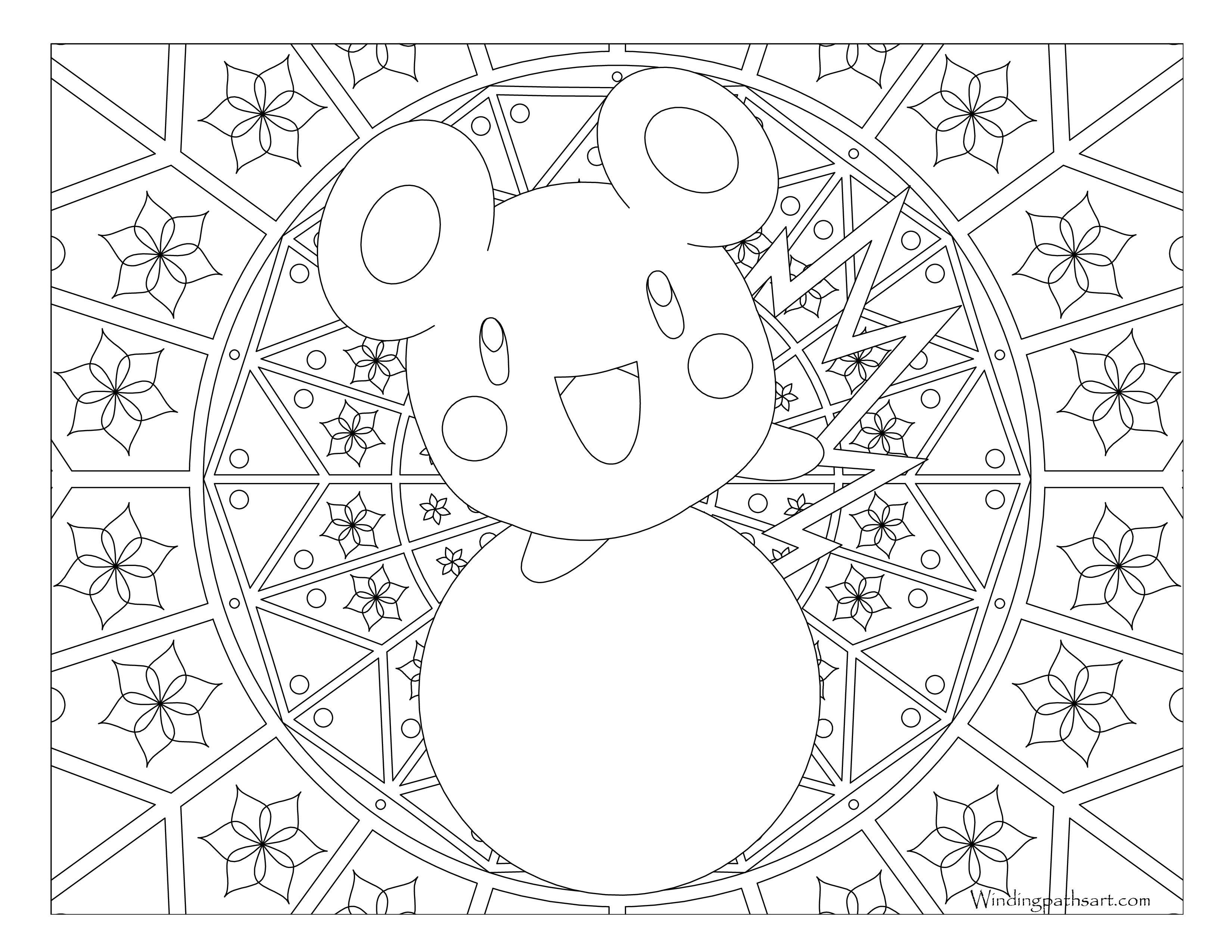 stantler pokemon coloring pages - photo#34