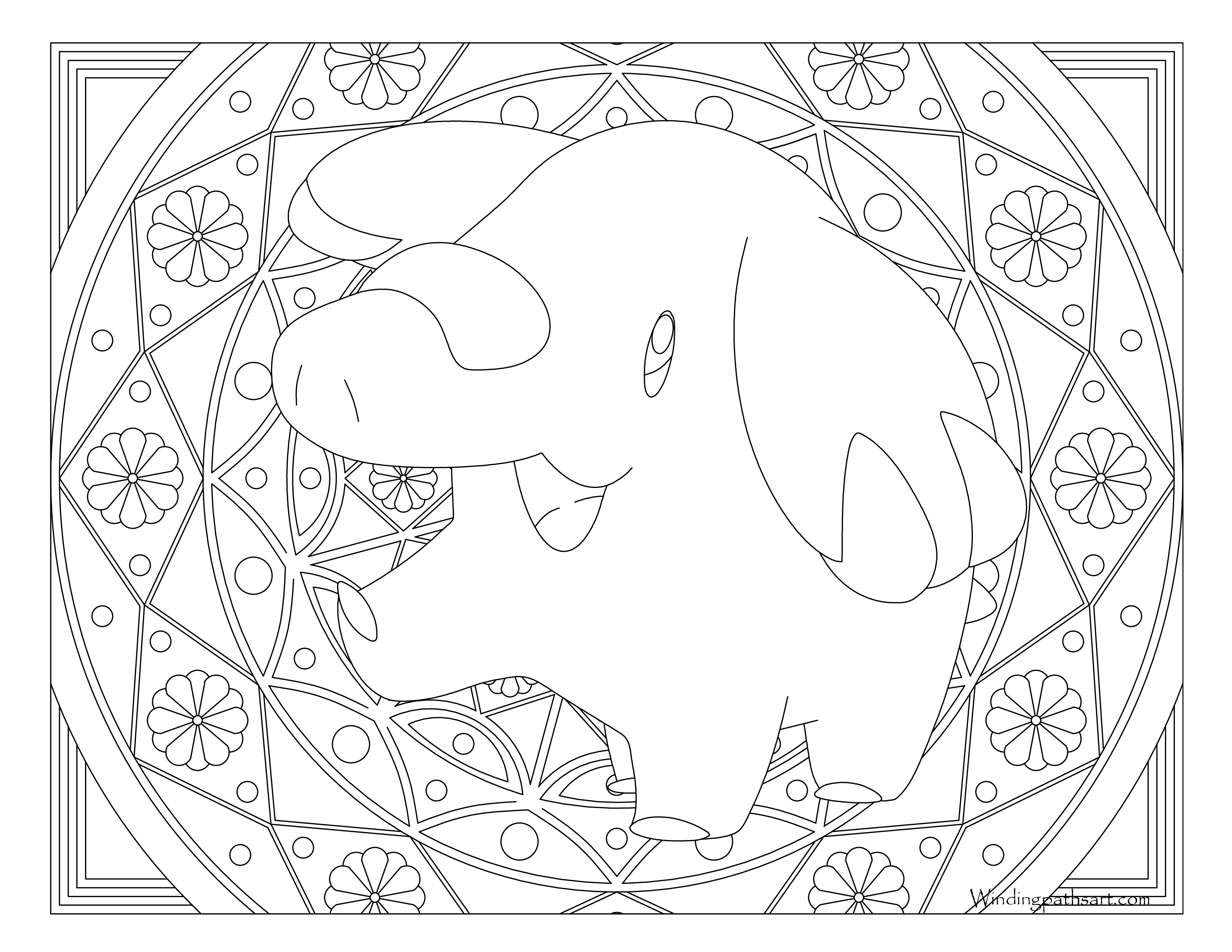 stantler pokemon coloring pages - photo#32