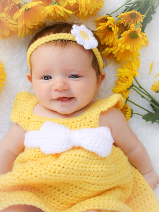 584df153d6b This free baby dress crochet pattern is designed to be quick and simple to  create for