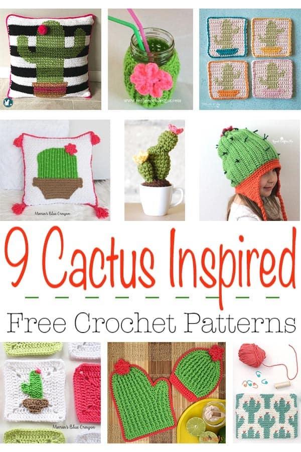 9 Cactus Crochet Free Pattern Round Up - Winding Road Crochet