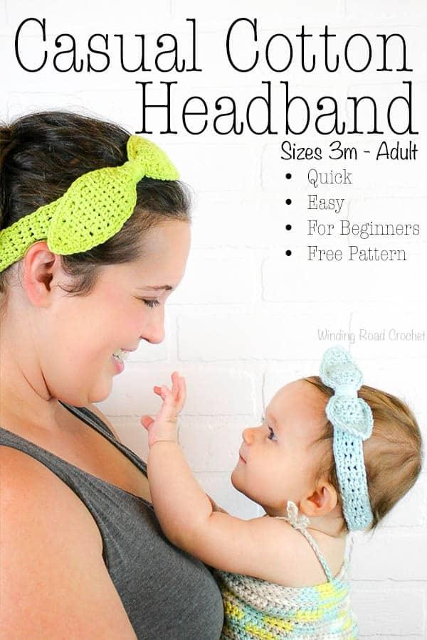 Casual Cotton Headband Free Crochet Pattern - Winding Road Crochet