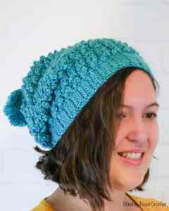 This beautiful fall inspired free crochet pattern is a great addition to any closet. The Ton's of texture slouch beanie has a beautiful rustic texture and a simple construction. This beanie works up quick and the accompanying crochet stitch video tutorials makes this hat doable by even begginers.