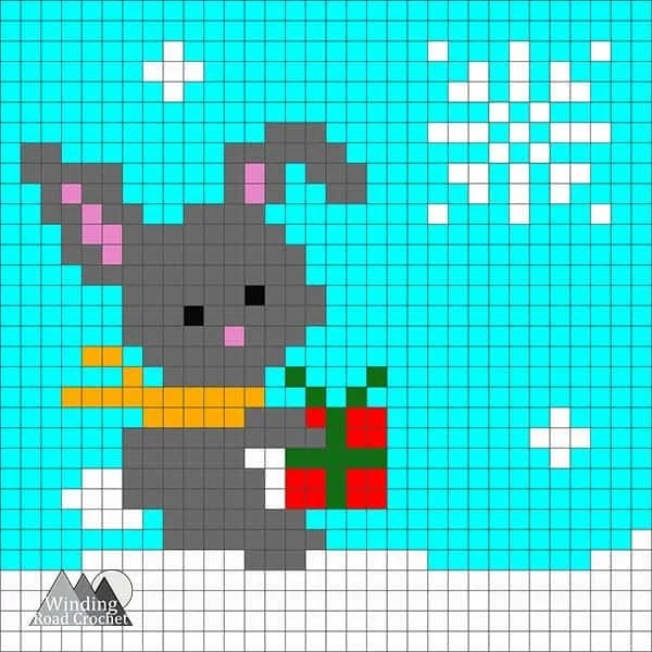 Big Brown Bear C2C Square Graph   This crochet bear C2C graph is great as a pillow or in my Woodland Winter Wonderland Corner to Corner Blanket. This is a great project to work on all fall and have ready for Christmas. Crochet a blanket with little woodland creatures.