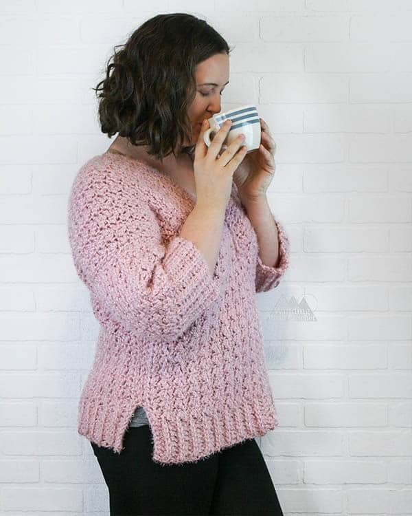 Make something wearable like a crochet sweater for your new year's resolutions